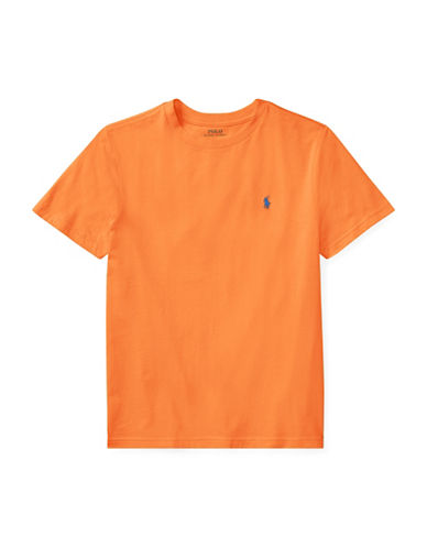 Ralph Lauren Childrenswear Crew Neck Cotton Jersey T-Shirt-ORANGE-X-Large