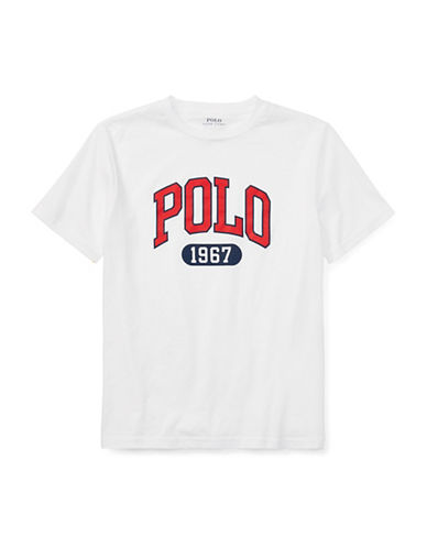 Ralph Lauren Childrenswear Graphic Cotton Jersey T-Shirt-WHITE-Medium 89794297_WHITE_Medium