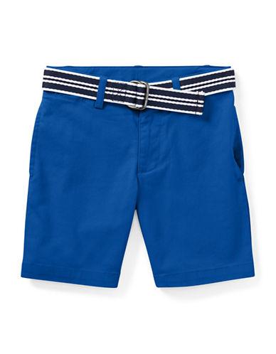 Ralph Lauren Childrenswear Slim Fit Belted Stretch Shorts-GREEN-2T
