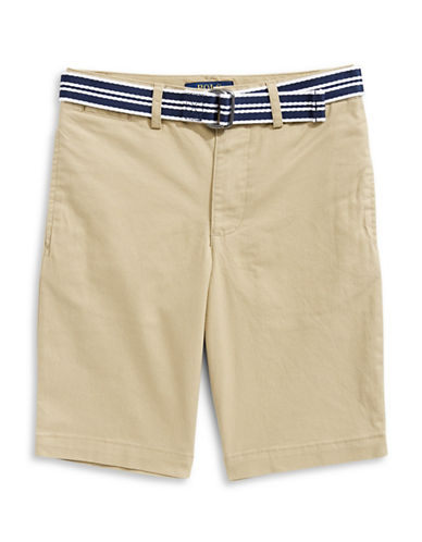 Ralph Lauren Childrenswear Stretch Chino and Belt Set-BEIGE-14