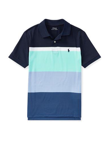 Ralph Lauren Childrenswear Striped Performance Lisle Polo-BLUE-Large 89926957_BLUE_Large