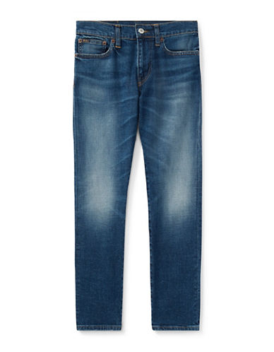 Ralph Lauren Childrenswear Cotton-Blend Slim Stretch Jeans-BLUE-14