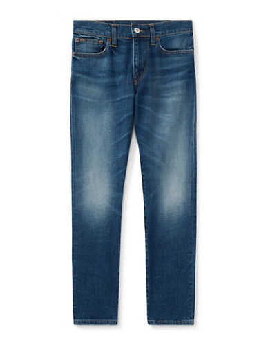 Ralph Lauren Childrenswear Cotton-Blend Slim Stretch Jeans-BLUE-20