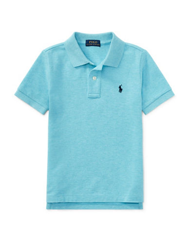 Ralph Lauren Childrenswear Cotton Mesh Polo Shirt-BLUE-4