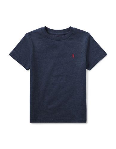 Ralph Lauren Childrenswear Crew Neck Cotton Tee-NAVY-4
