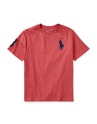 Ralph Lauren Childrenswear Cotton Jersey Crewneck T-Shirt-ORANGE-Small