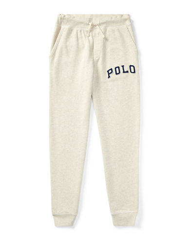 Ralph Lauren Childrenswear Featherweight Terry Jogger-BEIGE-Small