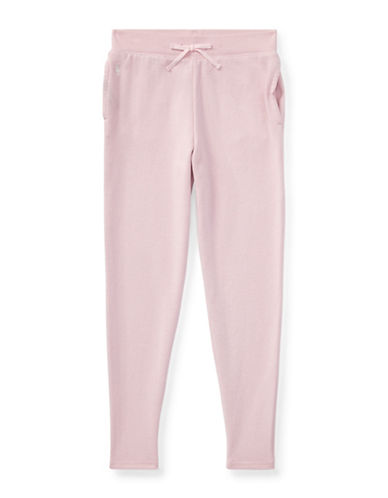 Ralph Lauren Childrenswear Cotton-Blend Terry Pant-PINK-Small