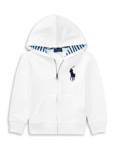 Ralph Lauren Childrenswear Cotton-Blend-Fleece Hoodie-WHITE-4