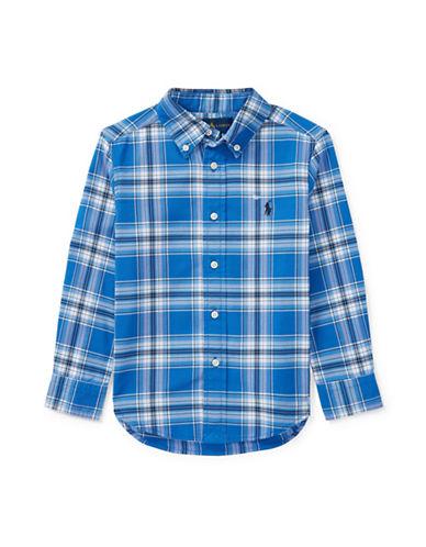 Ralph Lauren Childrenswear Performance Oxford Sport Shirt-BLUE-4T