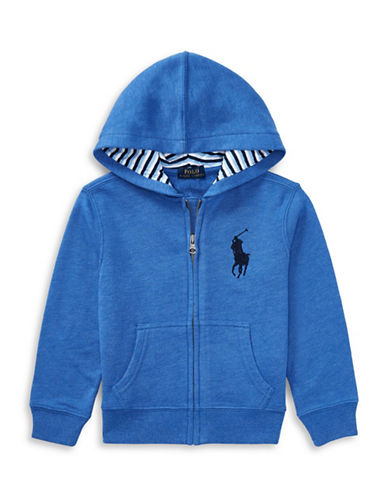 Ralph Lauren Childrenswear Cotton-Blend-Fleece Hoodie-BLUE-7