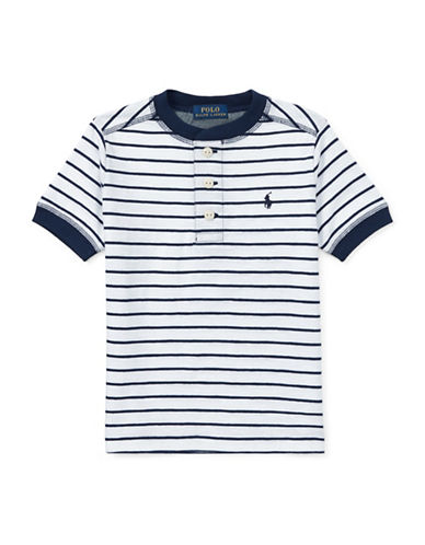 Ralph Lauren Childrenswear Striped Cotton Jersey Henley-WHITE-5 89923779_WHITE_5