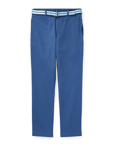 Ralph Lauren Childrenswear Stretch Chino and Belt Set-DARK BLUE-18
