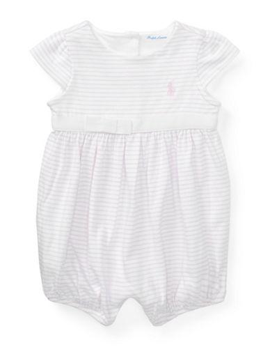 Ralph Lauren Childrenswear Striped Cotton Jersey Romper-WHITE-18 Months