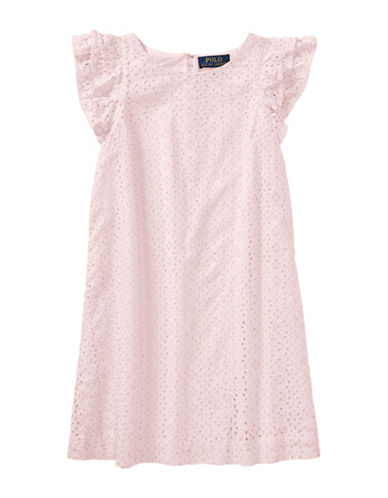 Ralph Lauren Childrenswear Eyelet Cotton Dress-PINK-12