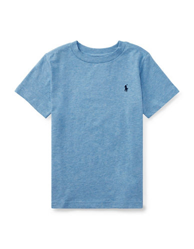 Ralph Lauren Childrenswear Crew Neck Cotton Tee-ROYAL BLUE-2