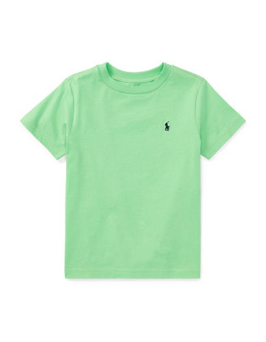 Ralph Lauren Childrenswear Cotton Jersey Crewneck T-Shirt-GREEN-5