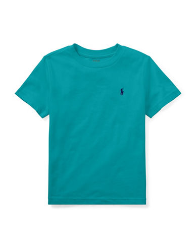 Ralph Lauren Childrenswear Cotton Jersey Crewneck T-Shirt-TURQUOISE-5
