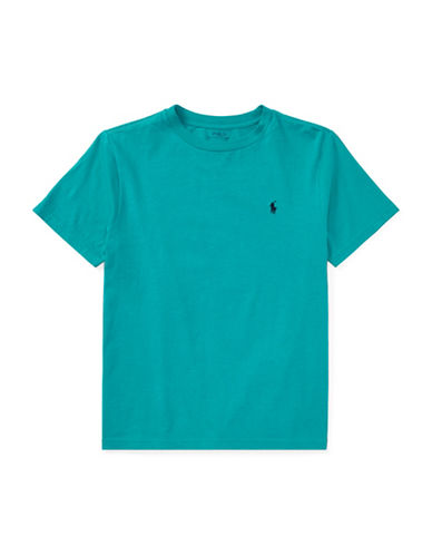 Ralph Lauren Childrenswear Crew Neck Cotton Jersey T-Shirt-TURQUOISE-X-Large