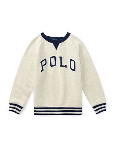 Ralph Lauren Childrenswear Cotton French Terry Sweatshirt-BEIGE-3