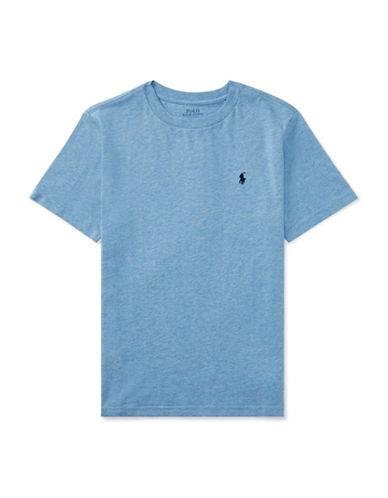 Ralph Lauren Childrenswear Crew Neck Cotton Jersey T-Shirt-BLUE-Small