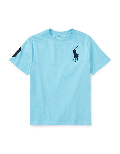 Ralph Lauren Childrenswear Cotton Jersey Crewneck T-Shirt-BLUE-Large