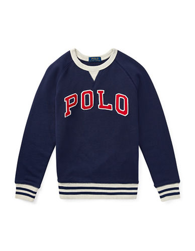 Ralph Lauren Childrenswear Cotton French Terry Sweatshirt-NAVY-Large