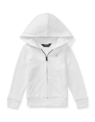 Ralph Lauren Childrenswear Girls French Terry Hoodie-WHITE-3T