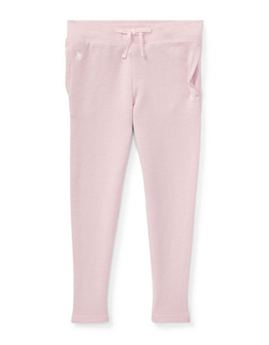 Ralph Lauren Childrenswear Girls Cotton-Blend Terry Pant-PINK-4T