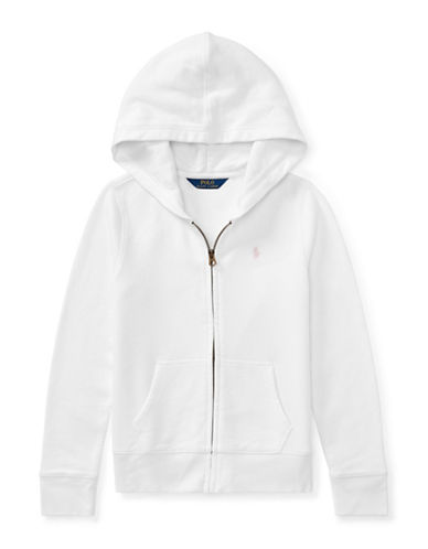 Ralph Lauren Childrenswear French Terry Hoodie-WHITE-Large