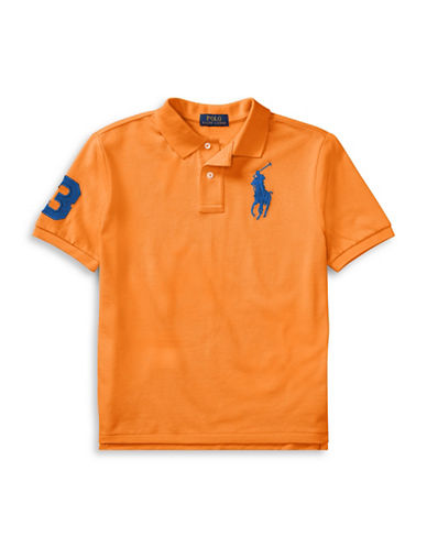 Ralph Lauren Childrenswear Cotton Logo Polo Shirt-ORANGE-Small