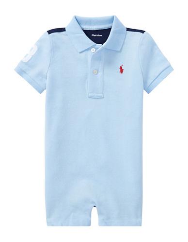 Ralph Lauren Childrenswear Cotton Mesh Polo Shortall-BLUE-12 Months 89923308_BLUE_12 Months