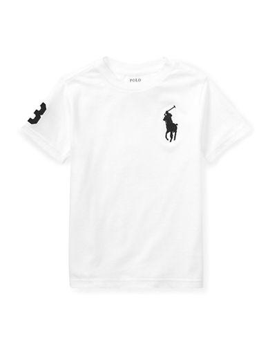 Ralph Lauren Childrenswear Crew Neck Cotton Jersey Tee-WHITE-3