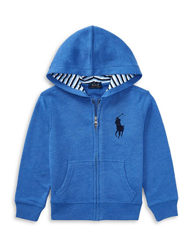 Ralph Lauren Childrenswear Cotton-Blend-Fleece Hoodie-BLUE-2