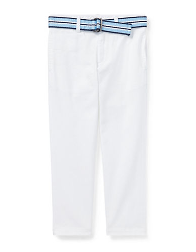 Ralph Lauren Childrenswear Belted Stretch Skinny Chino Pants-WHITE-6