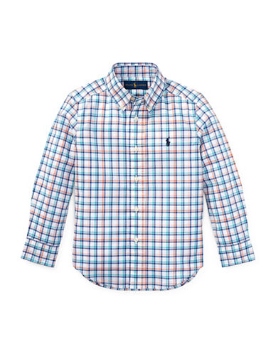 Ralph Lauren Childrenswear Plaid Stretch Cotton Sport Shirt-BLUE-7