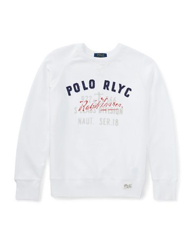 Ralph Lauren Childrenswear French Terry Sweatshirt-WHITE-X-Large 89935095_WHITE_X-Large