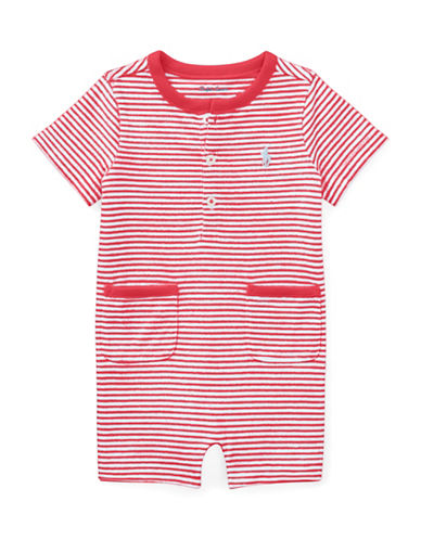 Ralph Lauren Childrenswear Striped Cotton Jersey Shortall-RED-6 Months