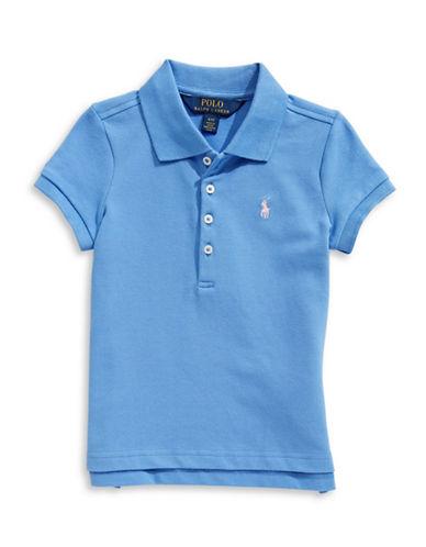 Ralph Lauren Childrenswear Short-Sleeve Stretch Mesh Polo-BRIGHT BLUE-3T