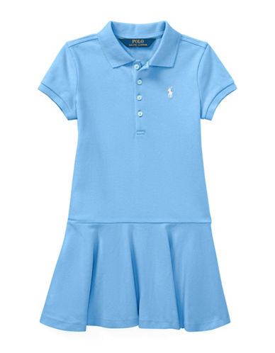 Ralph Lauren Childrenswear Girls Stretch Mesh Polo Dress-BLUE-4T