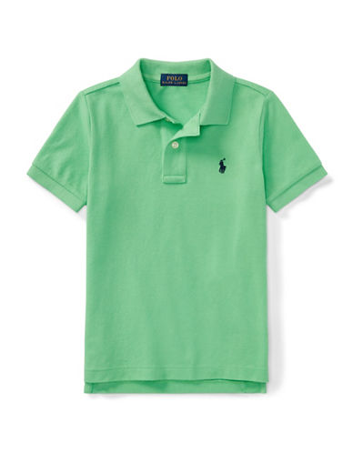 Ralph Lauren Childrenswear Cotton Mesh Polo Shirt-GREEN-4