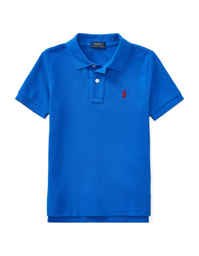 Ralph Lauren Childrenswear Cotton Mesh Polo Shirt-BLUE-3