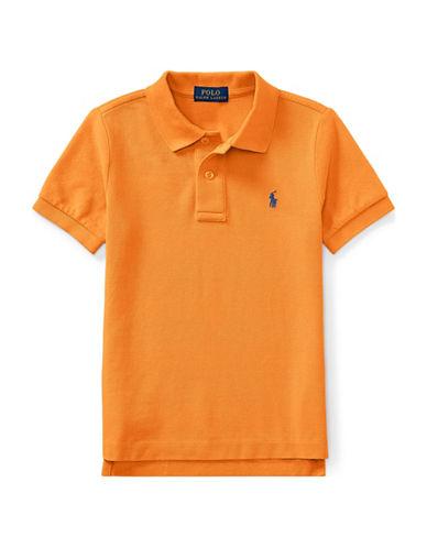 Ralph Lauren Childrenswear Cotton Mesh Polo Shirt-ORANGE-2