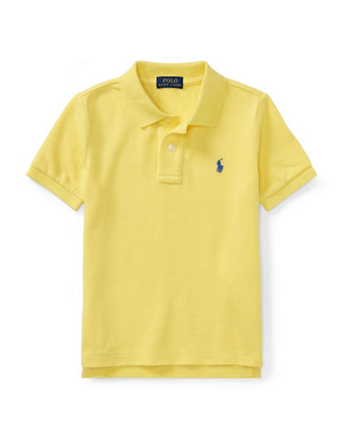 Ralph Lauren Childrenswear Cotton Mesh Polo Shirt-YELLOW-4