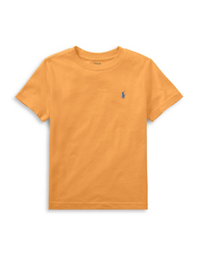 Ralph Lauren Childrenswear Cotton Jersey Crewneck T-Shirt-ORANGE-6