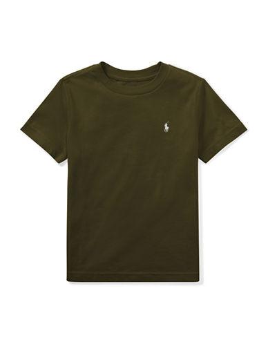 Ralph Lauren Childrenswear Cotton Jersey Crewneck T-Shirt-GREEN-5
