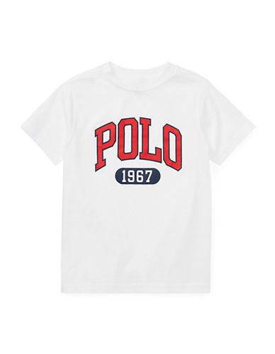 Ralph Lauren Childrenswear Graphic Cotton Jersey T-Shirt-WHITE-6