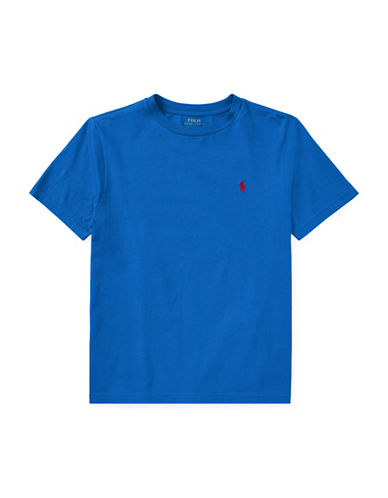 Ralph Lauren Childrenswear Crew Neck Cotton Jersey T-Shirt-BLUE-Large