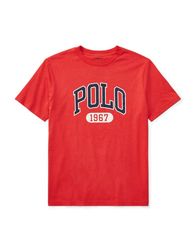 Ralph Lauren Childrenswear Graphic Cotton Jersey T-Shirt-RED-Small 89794302_RED_Small