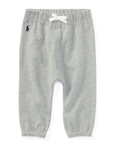 Ralph Lauren Childrenswear Cotton Mesh Jogger Pants-GREY-9 Months
